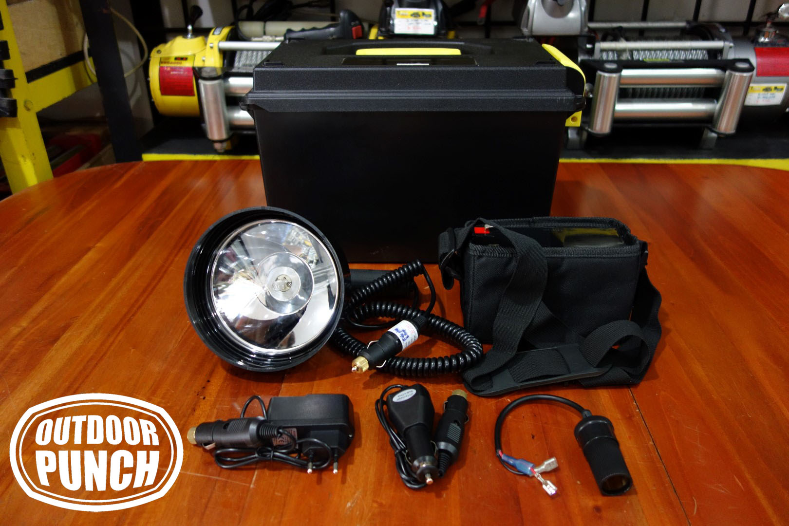 Hunting Spotlight Halogen 100w Complete Set