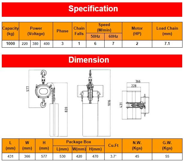 Spesifikasi CH1000