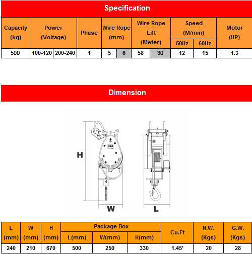 spesifikasi DU-500a