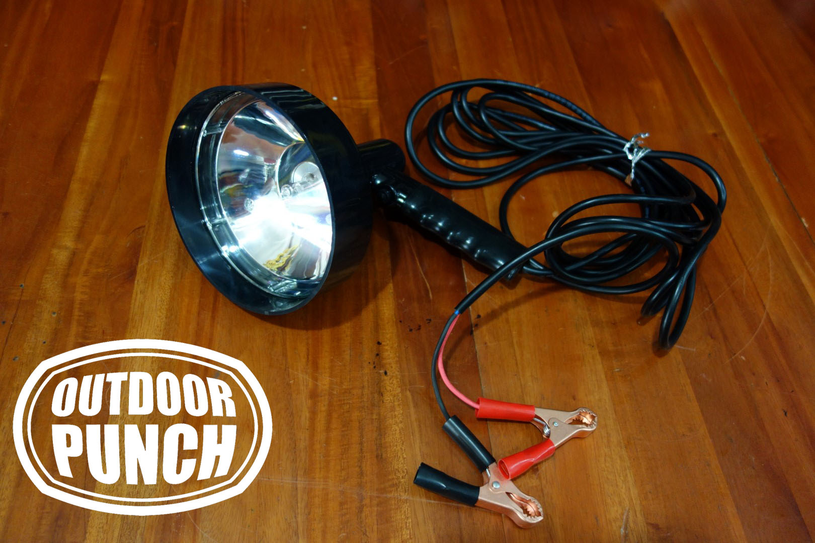 Hunting Spotlight Halogen Crocodile Plug (Lampu Sorot Berburu)